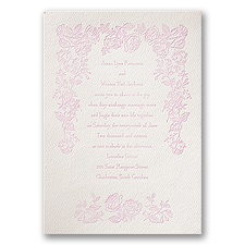 Classic Rose - Ecru - Featherpress Invitation