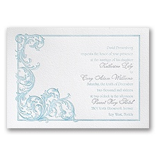 Flourish Feature - White - Featherpress Invitation