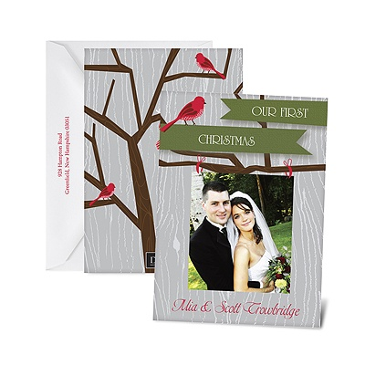 Rustic Greetings - Photo Holiday Card