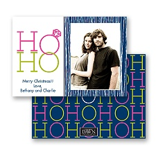 Ho Ho - Navy - Photo Holiday Card