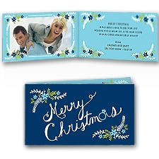 Merriest Moments - Navy - Photo Holiday Card