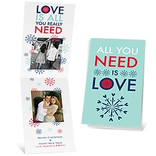 All You Need - Aqua - Photo Holiday Card