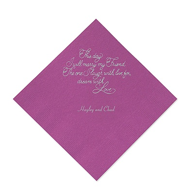 Amethyst Cocktail Napkin