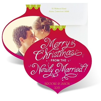 Newly Married Christmas - Photo Holiday Card