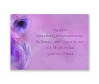 Watercolor Peacock - Grapevine - Reception Card