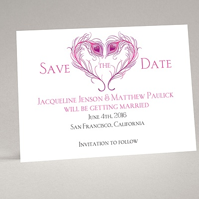 Peacock Love - Amethyst - Save the Date Magnet