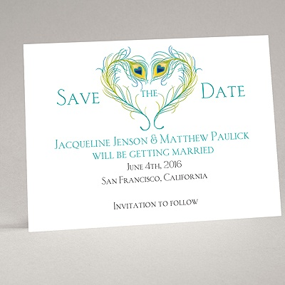 Peacock Love - Peacock - Save the Date Magnet