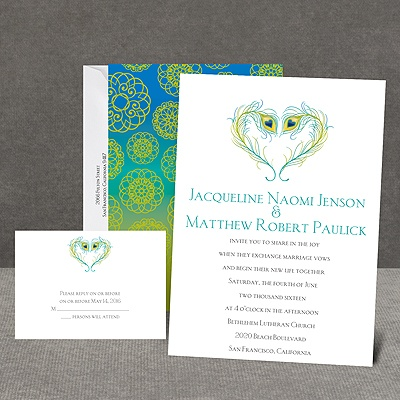 Peacock Love - Peacock - Invitation