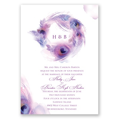 Peacock Whimsy - Grapevine - Invitation