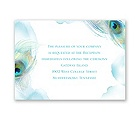 Peacock Whimsy - Peacock - Reception Card