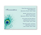 Peacock Close-Up - Aqua - Accommodation Card