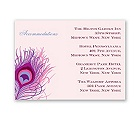 Peacock Close-Up - Cotton Candy - Accommodations Card
