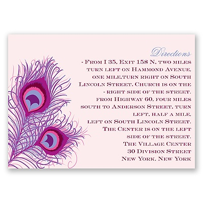 Peacock Close-Up - Cotton Candy - Map Card