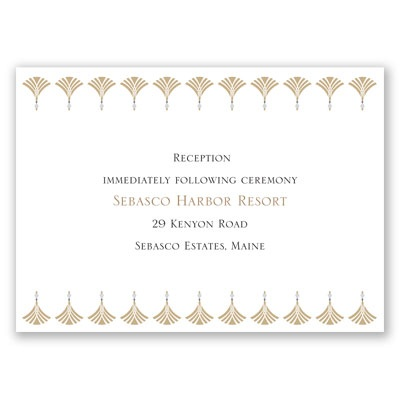 Elegant Display - Champagne - Reception Card