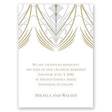 Elegant Display - Champagne - Save the Date Magnet