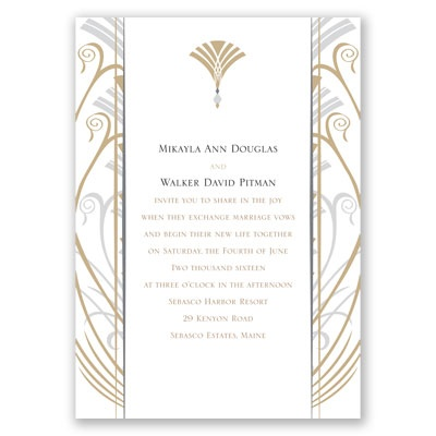 Elegant Display - Champagne - Invitation