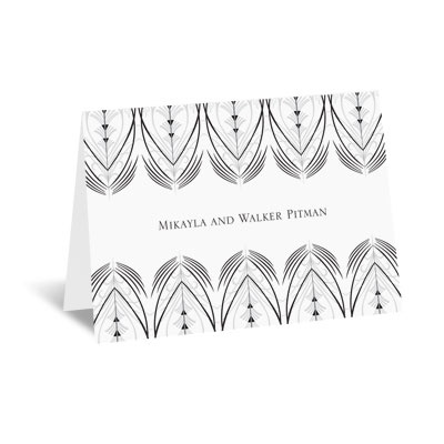 Elegant Display - Black - Note Card and Envelope