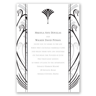 Elegant Display - Black - Invitation