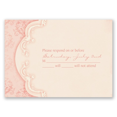 Vintage Flourish - Melon - Response Card and Envelope