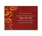 Bold Flourishes - Brick - Reception Card
