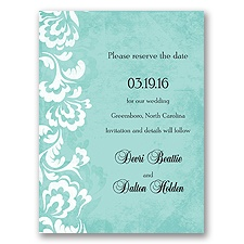 Bold Flourishes - Palm - Save the Date Card