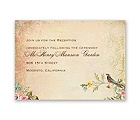Vintage Birds - Reception Card