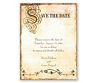 Antique Book - Save the Date Card