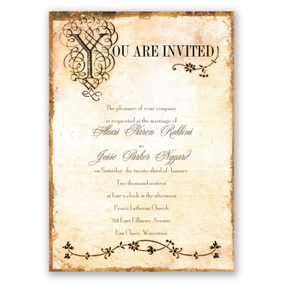 Antique Book - Invitation