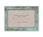 Rustic Frame - Aqua - Response Card and Envelope