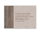 Rustic Frame - Bark - Reception Card