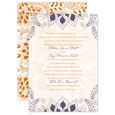 Feathered Flair - Raisin - Invitation