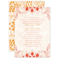 Feathered Flair - Tango - Invitation