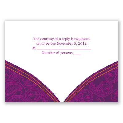 Indian Tradition - Amethyst - Response Card and Envelope
