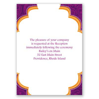 Indian Tradition - Amethyst - Reception Card