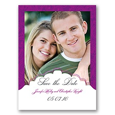 Indian Tradition - Amethyst - Save the Date Card