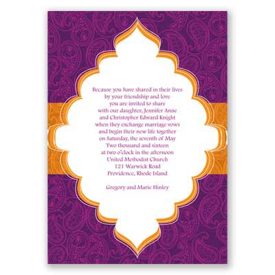 Indian Tradition - Amethyst - Invitation