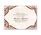 Indian Expression - Brick - Reception Card