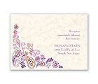 Paisley Floral - Grapevine - Reception Card
