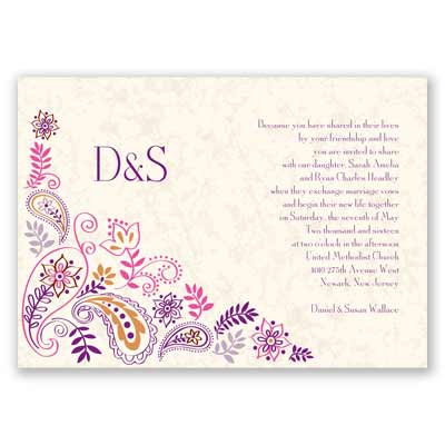 Paisley Floral - Grapevine - Invitation