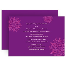Mehndi Medallion - Amethyst - Invitation