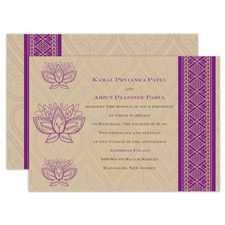 Lotus Dream - Amethyst - Invitation