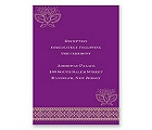 Lotus Dream - Amethyst - Reception Card