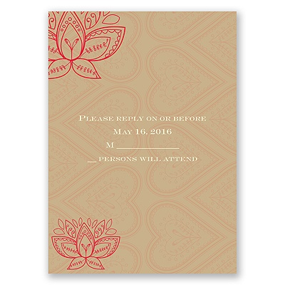 Lotus Dream - Cherry - Response Card and Envelope
