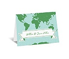World of Romance - Aqua - Note Card and Envelope