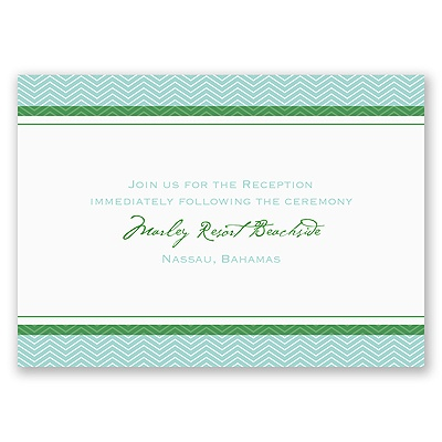 World of Romance - Aqua - Reception Card