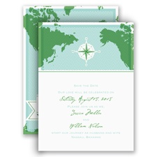 World of Romance - Aqua - Save the Date Card