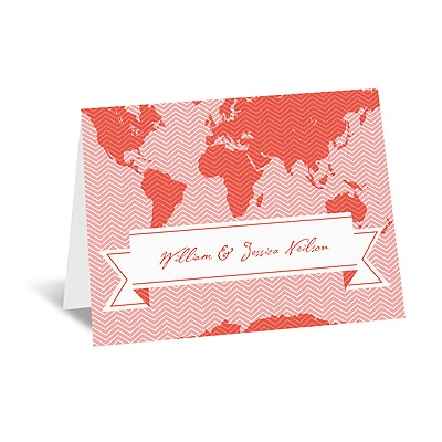 World of Romance - Melon - Note Card and Envelope