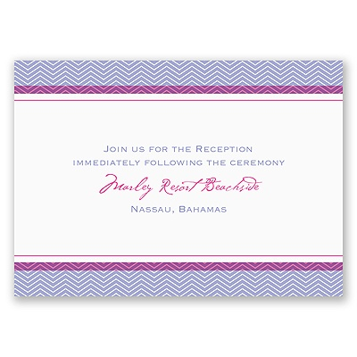 World of Romance - Orchid - Reception Card