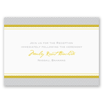 World of Romance - Sterling - Reception Card