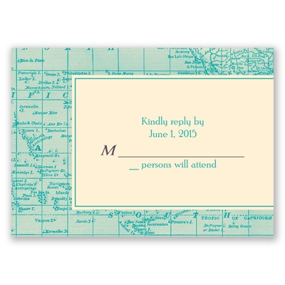 Classic Map - Response Card and Envelope